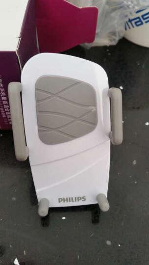 飞利浦 DLK35001 多功能手机支架夹式适用于车载/桌面/床头/汽车出风口/360度导航仪支架 白色 晒单图