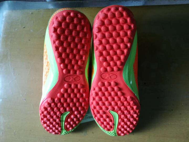 特步童鞋儿童足球鞋耐磨男童烽火足球运动鞋986415189557 黑红 34码 晒单图