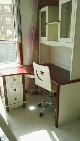 木居华府 家具 地中海儿童书桌 书柜组合 学习桌 家用电脑桌 台式 写字台 转角书桌 晒单图