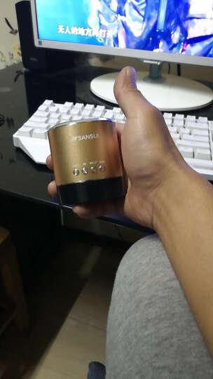 山水(SANSUI)A38s 蓝牙无线音箱 迷你音响 便携式插卡音箱 收音机手机音乐播放器 金色 晒单图
