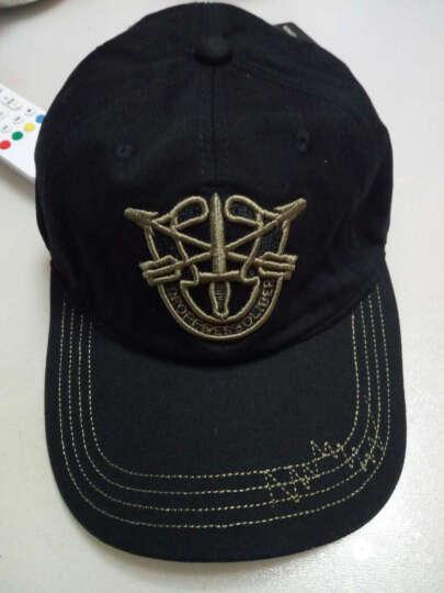 开妮特(Kenniter)帽子男夏户外休闲棒球帽迷彩防晒遮阳帽605 盾牌平顶黑色 晒单图
