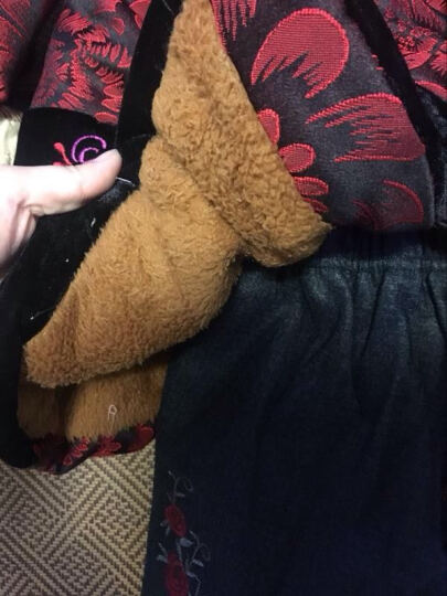 达丽莱 中老年女装棉衣奶奶装冬装老年人唐装加厚加绒棉袄老太太秋冬款上衣外套妈妈装棉服 玫红富贵圆 XL (建议95-110斤) 晒单图