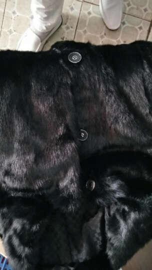 水貂皮大衣整貂男貂毛皮草外套海宁2018新款中长款优选母貂翻领 黑色 3XL 晒单图