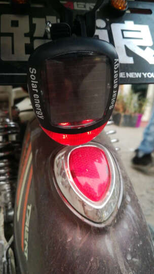 自行车太阳能尾灯 夜骑尾灯警示灯充电车尾灯山地车骑行装备配件 太阳能尾灯1个 晒单图