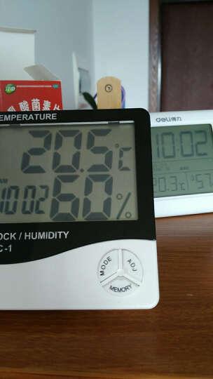 探戈(TANGO)电子温度计多功能日历时钟闹钟 办公桌面电子时钟 语音报时 夜光自动感应 黑色 晒单图