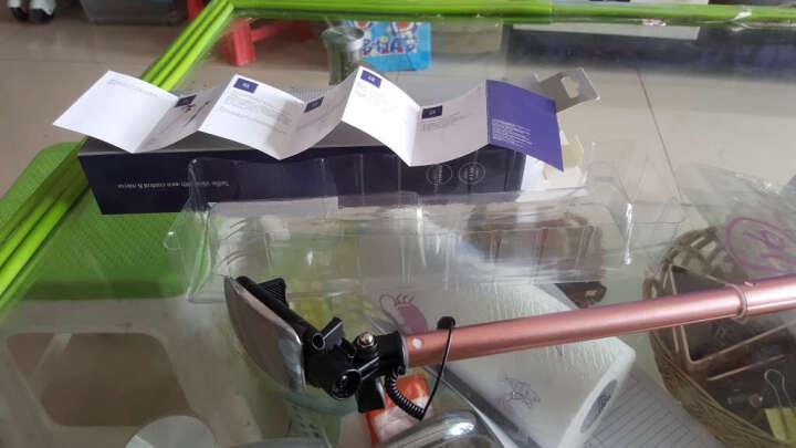 洛克ROCK 迷你线控自拍杆/自拍神器 大镜面后视镜 适用苹果/华为/OPPO/小米/ViVO 粉色 晒单图