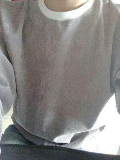 春季男士长袖T恤男韩版修身圆领卫衣男青年打底衫上衣潮流学生春装男装衣服 深灰色 XL 晒单图