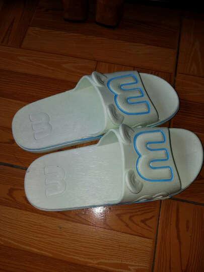 浴室拖鞋防滑 洗澡情侣男女居家夏季室内塑料软底家居凉拖鞋 M耳/天蓝 38-39码((适合平常穿37/38码) 晒单图