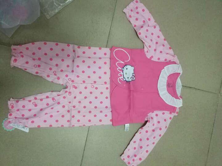 HelloKitty婴儿连体衣宝宝爬服棉毛布背心两件套哈衣KA732GA10R0566浅玫红66 晒单图