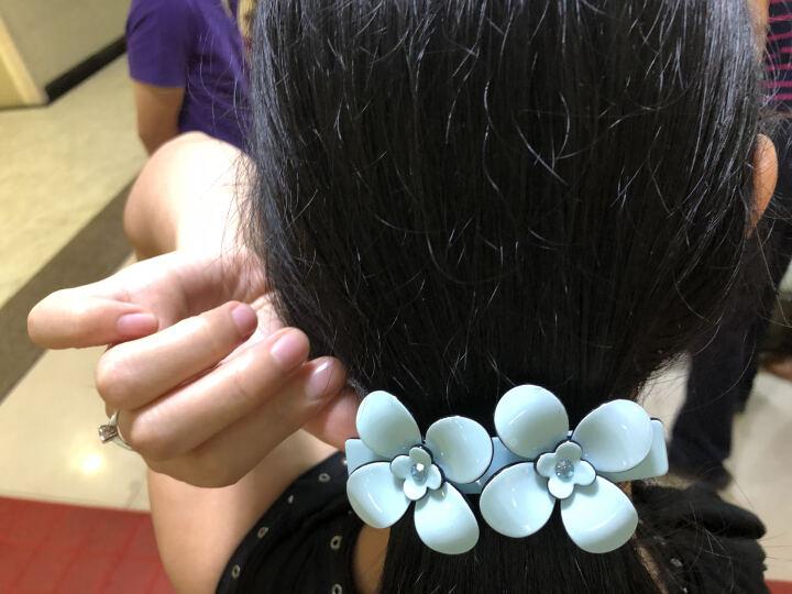 tsful 简约优雅发夹女 横夹一字夹短发发夹发饰弹簧夹马尾夹发卡韩版头饰 蓝雪色 晒单图