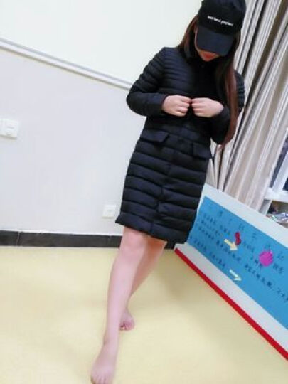 莎蕾雅羽绒服女2019冬季新款韩版修身显瘦大码女装轻薄中长款外套女学生303 灰色毛领 3XL 晒单图