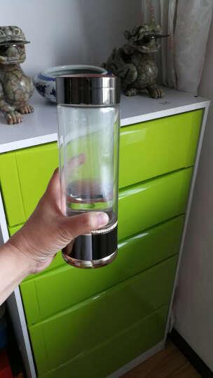 英润富氢水杯水素水杯高浓度水素杯弱碱性水杯负电位电解水杯氢氧分离日本进口材质水素生成器 锌合金黑色 晒单图