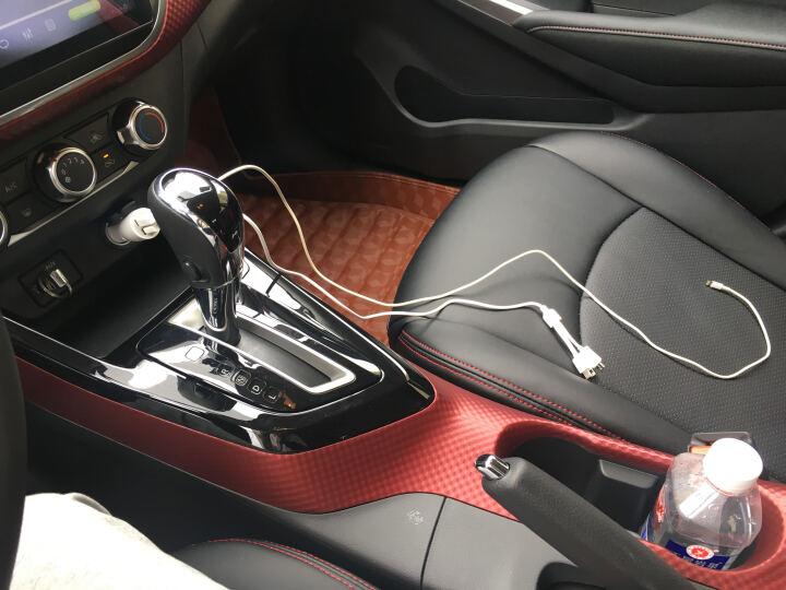 【速发】品胜车载充电器苹果安卓2A一拖二双USB车充转接口插头 适用于小米华为手机快充套装 车充+三合一线+飞利浦车载音频线 晒单图