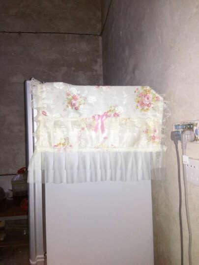 蕾丝冰箱防尘罩对开门冰箱罩双开门冰箱巾帘套单开门万能盖巾盖布 锦上添花 单开门/上下门 晒单图