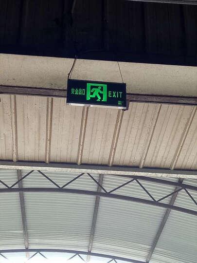 谋福(CNMF) LED新国标消防应急灯一体式充电应急照明灯 标志灯安全出口标志牌指示灯 老国标两用灯左向指示 双头灯 晒单图