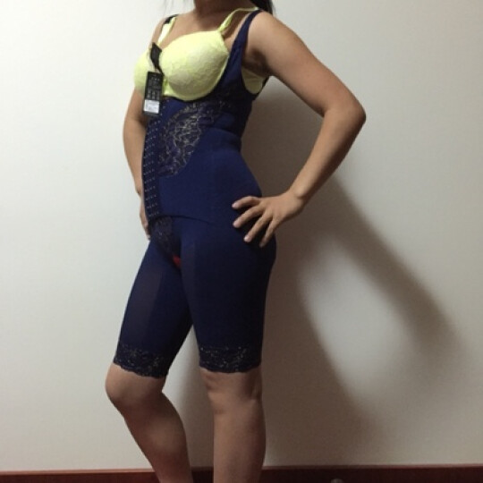 纤慕磁疗强力收腹连体塑身衣 产后修复凹凸脂肪管理塑型衣 提臀矫形美体内衣裤套装 气质高贵紫美容院专供套装 XXL建议125-145斤 晒单图
