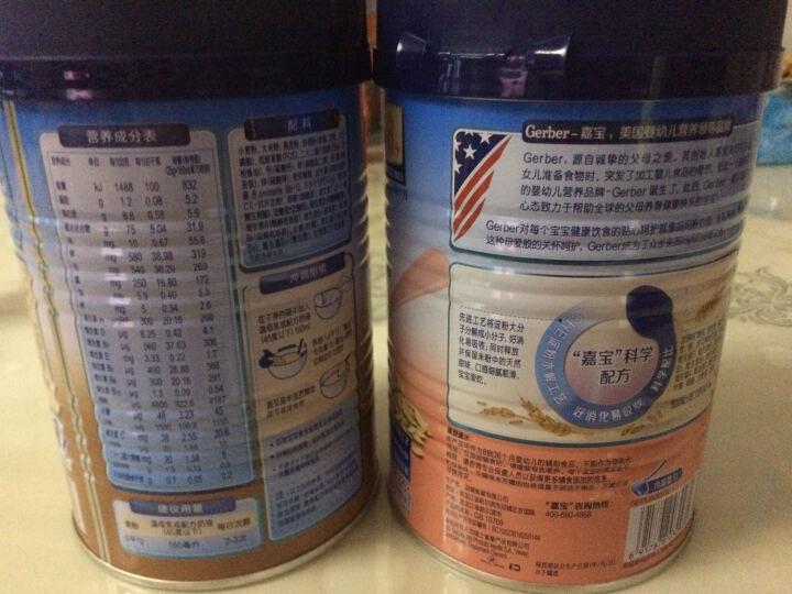 嘉宝(Gerber ) 婴幼儿米粉 宝宝辅食 混合蔬菜营养米粉三段(8个月至36个月适用) 225g 晒单图