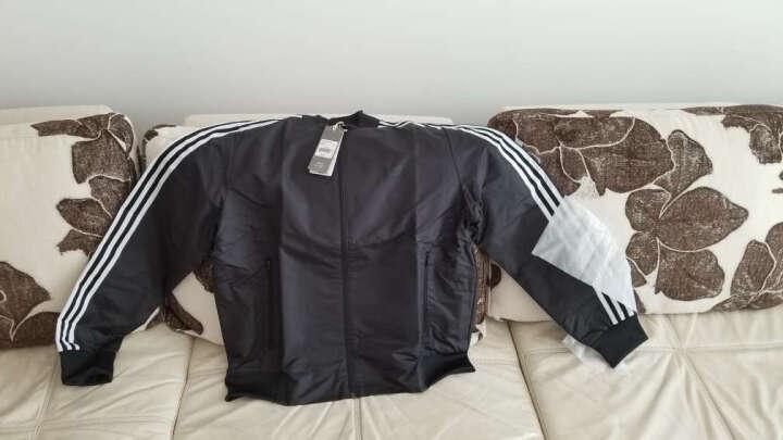 adidas阿迪达斯男子外套夹克秋季新款梭织休闲运动服DM5234 CV6219绿色 XL 晒单图