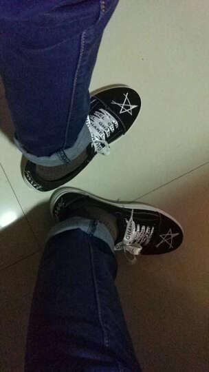迈向男鞋春夏季休闲鞋新款低帮板鞋男士帆布板鞋韩版男学生潮流男鞋子 1515-黑白 44 晒单图
