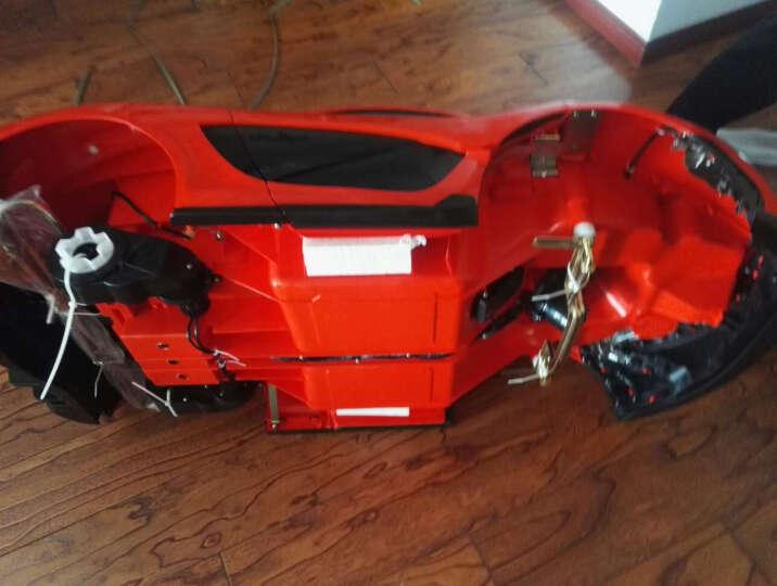 智乐堡(CHILOKBO) 儿童电动车迈凯伦跑车小孩四轮可坐玩具汽车宝宝双驱动赛车 红色 晒单图