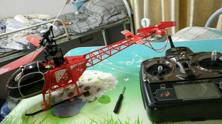 V915蜻蜓四通遥控直升飞机 2.4G遥控拉玛机6轴陀螺仪航模玩具 FJ4701-1008 晒单图