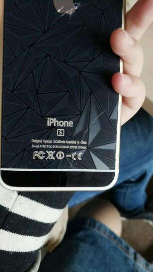 Tensam 钢化玻璃膜 前后手机贴膜 保护膜 适用苹果iPhone6/6s plus 5.5钻石菱形前膜+背膜(金属黑) 晒单图