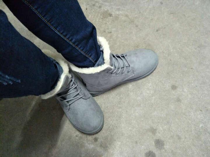 【冬季新款短筒雪地靴】雪地靴女冬季短靴女鞋雪地棉鞋短筒女靴学生秋冬靴子 米色 36码 晒单图