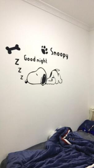 个性3d水晶立体墙贴儿童房幼儿园卧室卡通可爱萌简约墙贴画 史努比黑色 中 晒单图