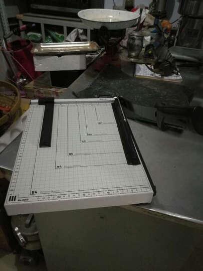得力(deli)切纸刀手动切纸机大号裁纸刀B3/B4/A3/B5切纸机照片切割机裁纸器相片刀裁剪刀 小号美工刀5把装 晒单图