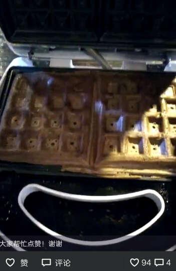 班尼兔(Pink Bunny) 家用迷你多功能电饼铛华夫饼机松饼机蛋糕曲奇机可拆卸盘 白色松饼机 晒单图