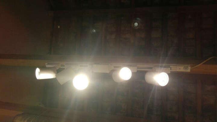 一极喜光 轨道射灯led明装cob轨道灯20W30w店铺高亮导轨灯橱窗展柜展厅舞台工程背景墙射灯 10送1白色7W-加厚款家装轨道射灯 暖白光(3200K) 晒单图