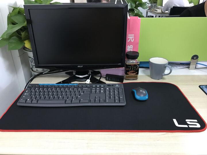 灵蛇(LINGSHE)超大鼠标垫 超大游戏鼠标垫 超大加厚键盘垫 电竞游戏鼠标垫 办公桌鼠标垫P16黑色 晒单图