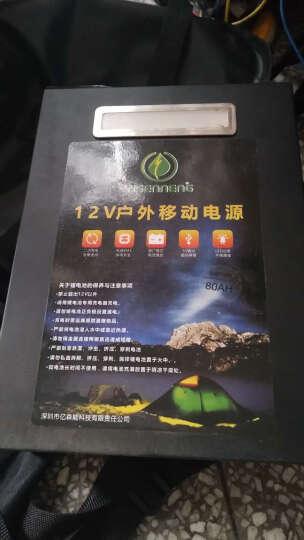 YI SEN NENG 12v锂电池大容量60ah锂电瓶头灯逆变器足容户外电源 80AH足容+充电器+背包+下水灯 晒单图