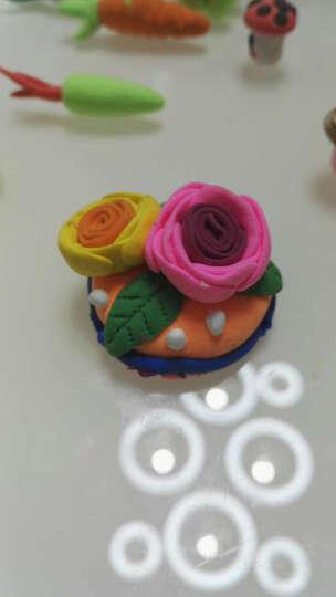 贝博氏彩泥超轻粘土儿童手工彩泥黏土太空泥玩具DIY套装36色彩泥+4色 晒单图