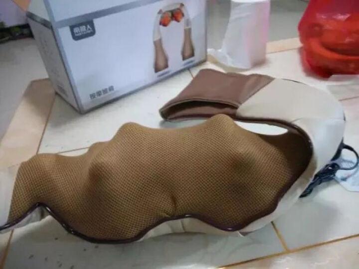南极人(NANJIREN) 颈椎按摩器 肩颈车载按摩披肩 按摩枕垫颈部腰部背部按摩仪 棕色4D揉捏版 晒单图