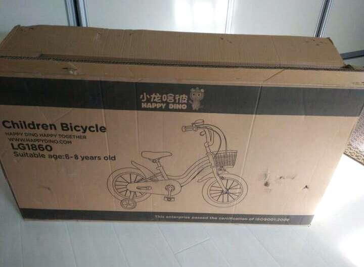 小龙哈彼(Happy dino)儿童自行车女18寸自行车全包式罩链琉璃漆面白粉色LG1860-P102 晒单图