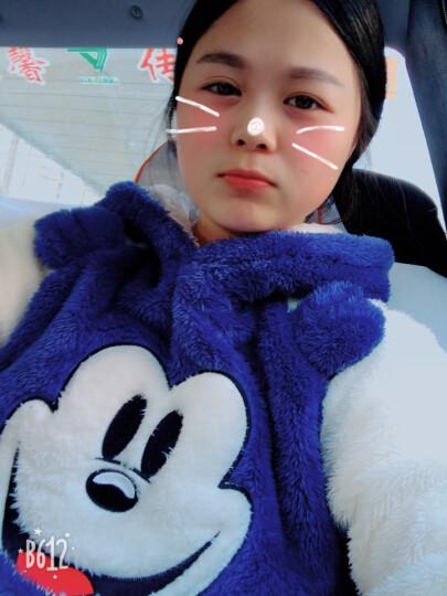秋冬季情侣睡衣加厚珊瑚绒可爱卡通带帽女款长袖男熊猫家居服套装 bys 玫红色 17393雪糕熊 女款XL120-140斤 晒单图