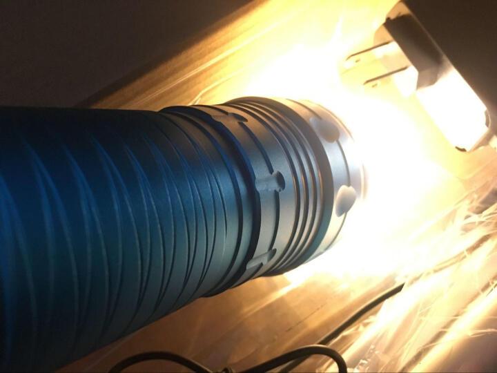 魔铁/MOTIE 夜钓钓鱼灯 45WLED蓝白黄三光源强光手电筒 防水充电远射 D3 浅紫色三光源+大支架+饵灯 晒单图
