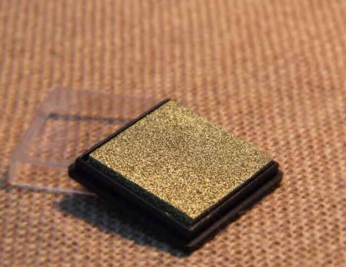 简约可爱方块彩色印泥印油 4x4cm 快干DIY日记相册必备 多色可选 金色方盒印泥 晒单图