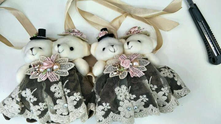 俏亿家(QiaoYiJia) 欧式卡通小熊窗帘扣窗帘绑带 韩国可爱创意窗帘夹窗帘扣环花一对 一对-咖啡色 晒单图