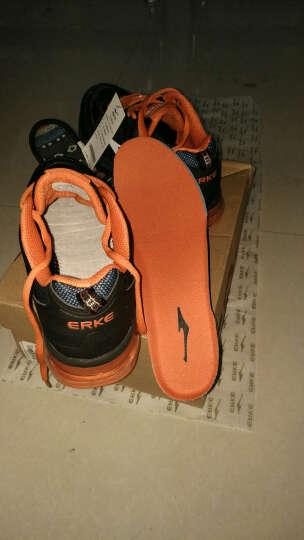 鸿星尔克ERKE跑鞋新款情侣款全掌气垫减震运动慢跑鞋男款 51116120028 芙蓉橙/彩蓝 41 晒单图