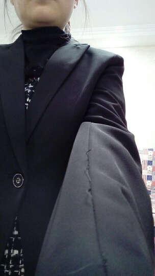 造梦伊人小西装女外套2020新款秋冬装修身韩版职业装女装套装正装工装酒店工作服 黑色五件套 (西装+裙子+裤子+衬衣+马甲) XS 晒单图