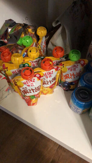 亨氏 (Heinz) 宝宝零食 婴儿果泥 乐维滋果汁泥-苹果蓝莓 (1-3岁适用) 120g 晒单图