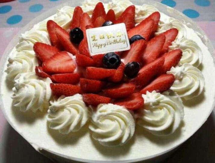 味多美 生日蛋糕 天然奶油 水果蛋糕 同城配送北京 经典100% 直径90cm 晒单图