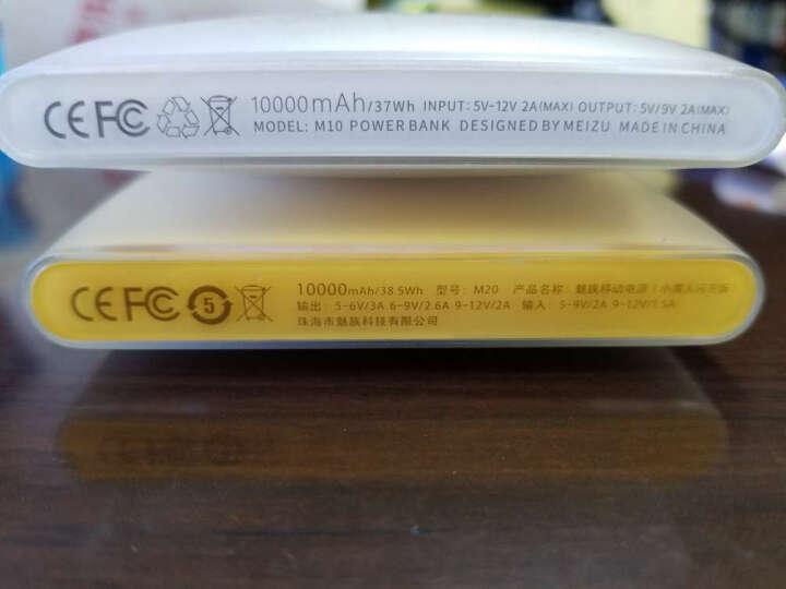 魅族(MEIZU)小黄人闪充版 移动电源/充电宝 10000毫安 单眼 24W双向快充 适用于安卓/苹果/手机/平板等 晒单图