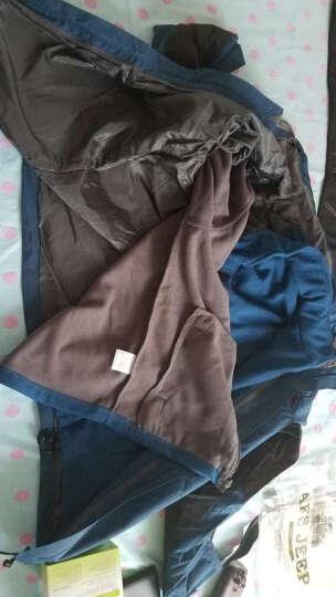 飞米斯户外冲锋衣裤套装男女冬季三合一两件套羽绒内胆防风外套防寒登山滑雪服 女紫红+黑色 XL 晒单图