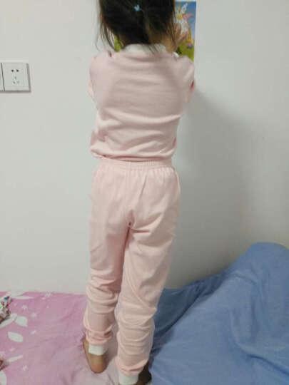 俞兆林(YUZHAOLIN) 儿童棉内衣套装男女童内衣裤2件套小孩休闲中大童学生秋衣秋裤 格子字母-灰色 120CM 晒单图