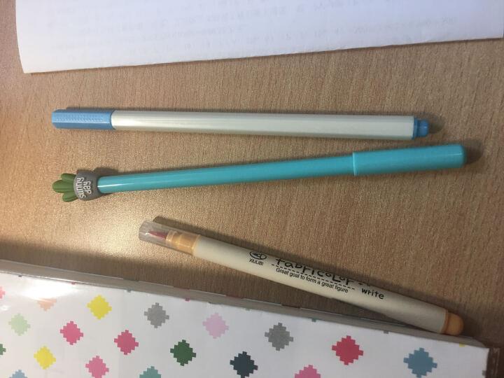 安蔻(ANGOO)彩色记号笔水笔软头笔金属珠光软笔油漆笔书法笔 儿童学生绘画涂鸦彩色中性笔签字笔 蓝色 晒单图