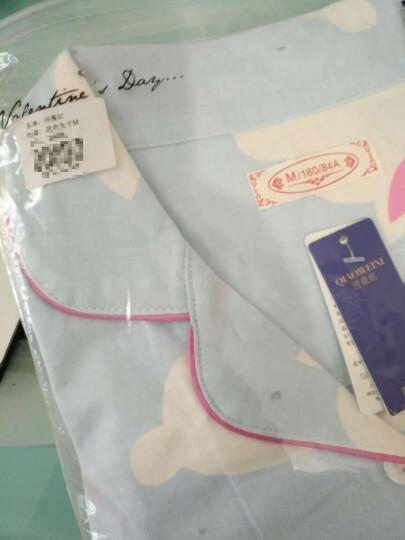 俏薇妮睡衣女春新品纯棉长袖秋冬季甜美可爱两件套家居服 5645粉色蝴蝶结 XL 晒单图