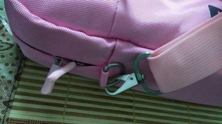 英制(BRINCH) 电脑包 14.1-14.4英寸通用款日韩风单肩/手提电脑专用包BW-127粉色 晒单图